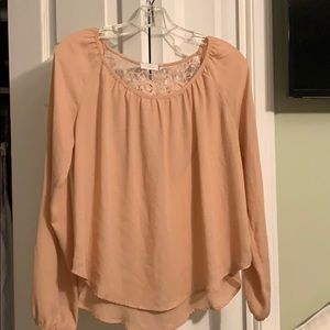 Semi sheer blouse